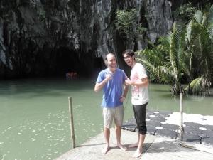 A l'entrée de l'Underground River, Sabang